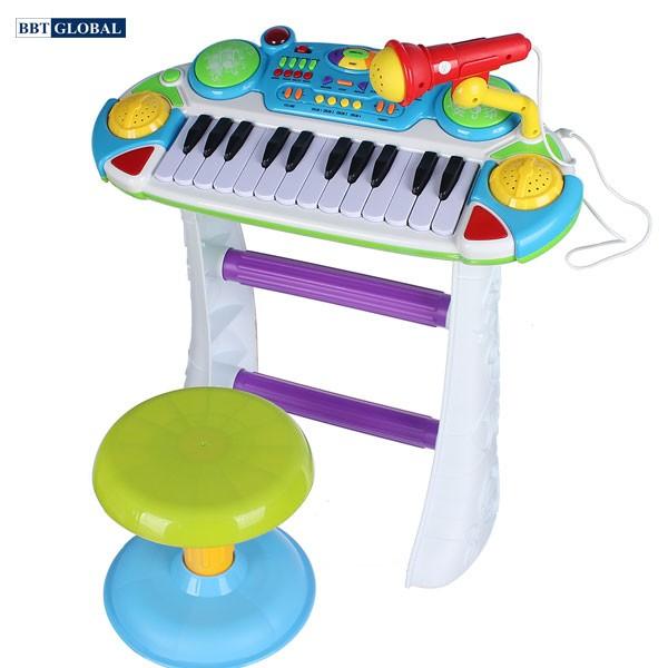 Bộ đàn organ có ghế ngồi màu xanh BBT GLOBAL BB335B