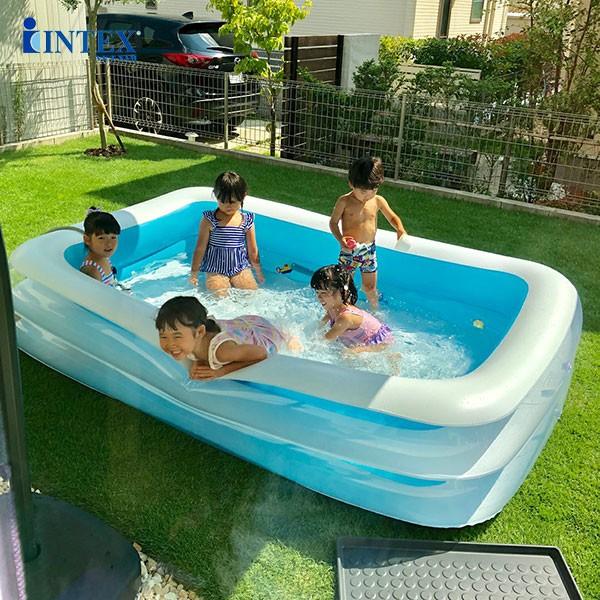 bể bơi phao cho bé hình chữ nhật INTEX 56483