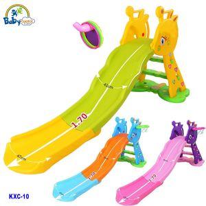 Cầu trượt chú hươu máng dài cho bé KXC-10