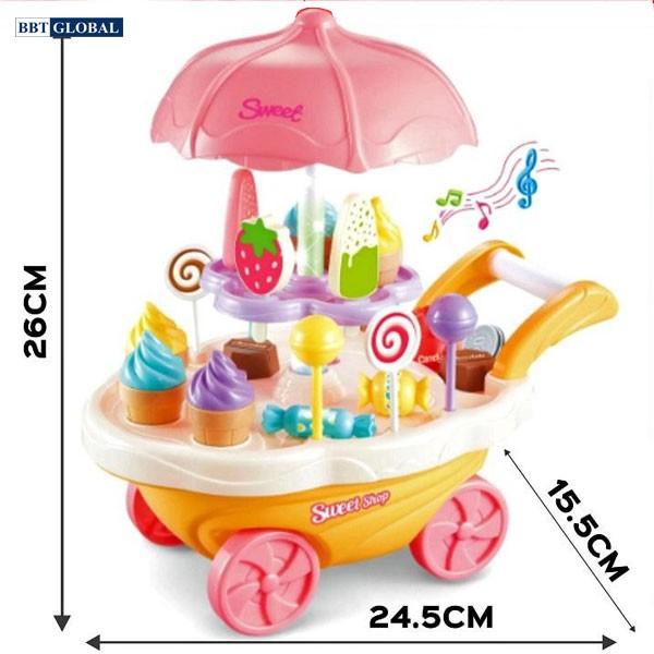 Đồ chơi xe đẩy bán kem cỡ lớn có nhạc 668-55