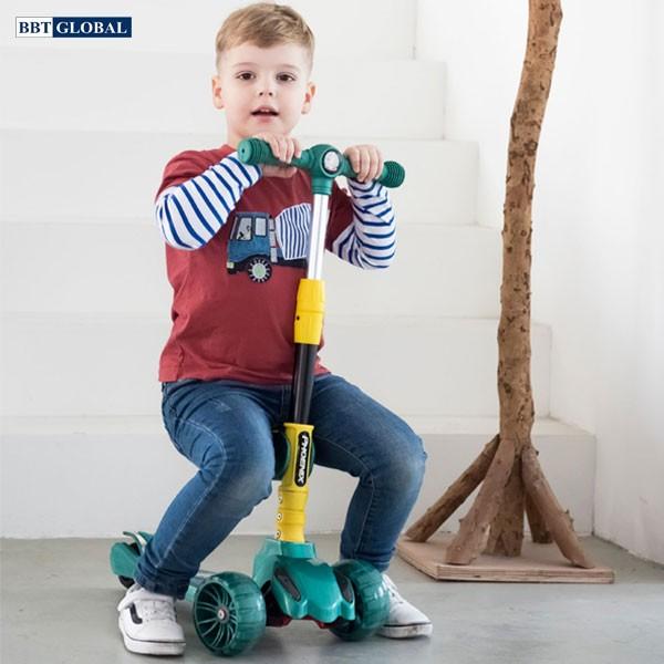 Xe trượt Scooter 2 trong 1 cho bé có đèn và nhạc SK1304