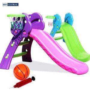 Cầu trượt cho bé có ném bóng rổ 130cm ZK035-2