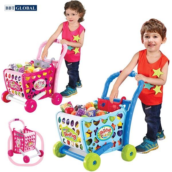 Bộ đồ chơi xe đẩy siêu thị cao 008-903