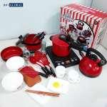 Đồ chơi nấu ăn cho bé 24 chi tiết cỡ lớn màu đỏ 5696