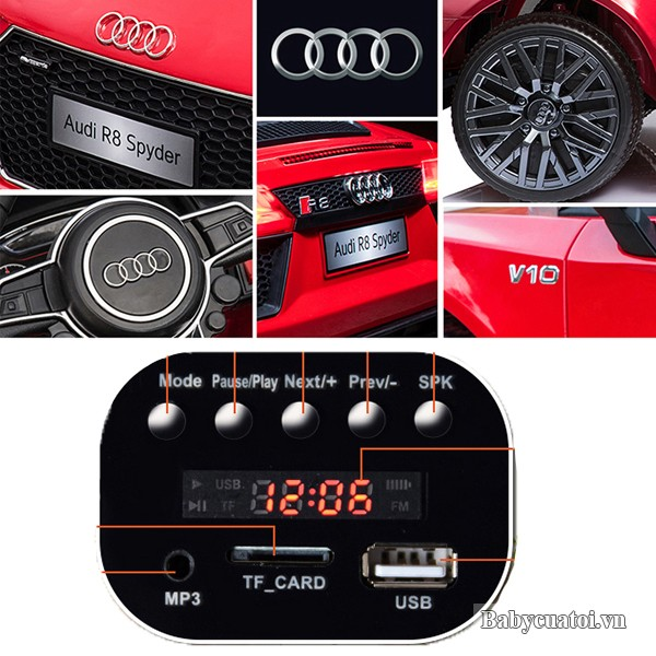 cac chi tiet xe o to dien cho be audi r8
