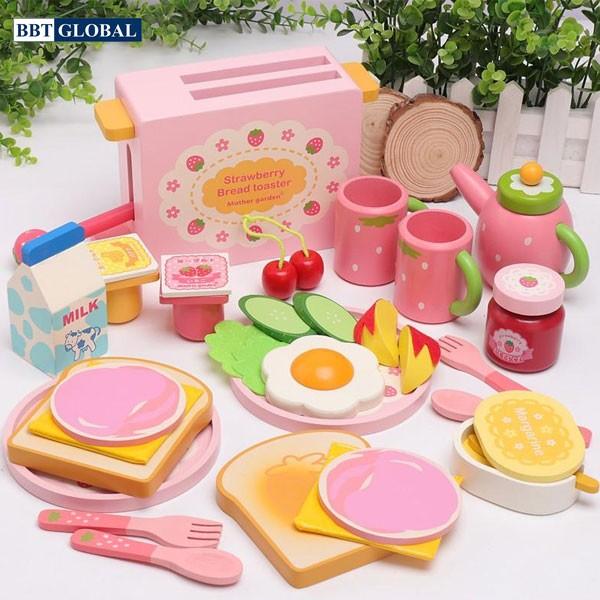 Bộ đồ chơi nấu ăn nhanh gỗ cao cấp cho bé JYNC016
