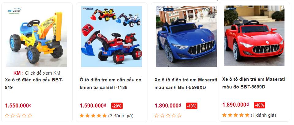 Xe ô tô điện trẻ em giá rẻ