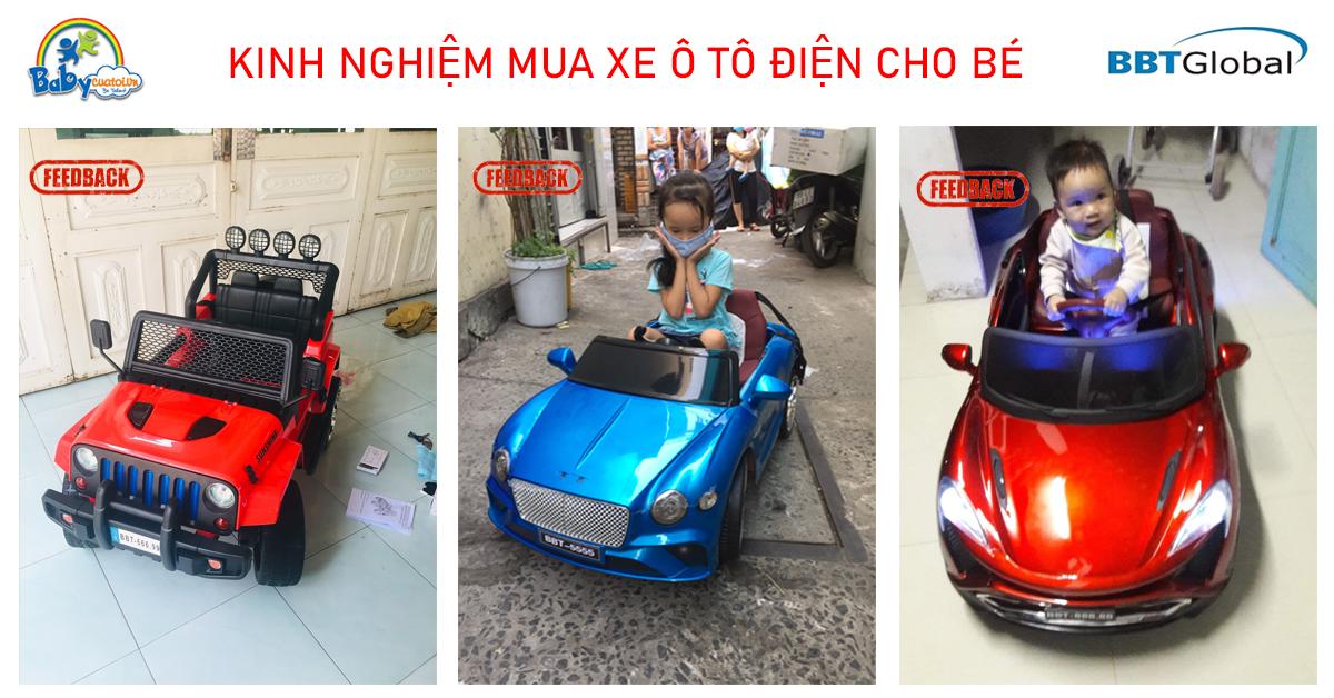 Kinh nghiệm mua xe ô tô điện cho bé - Babycuatoi - BBTGlobal