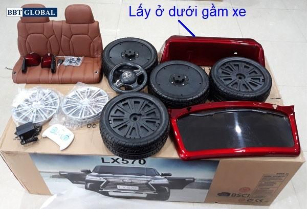 Đập hộp xe ô tô điện trẻ em Lexus LX570