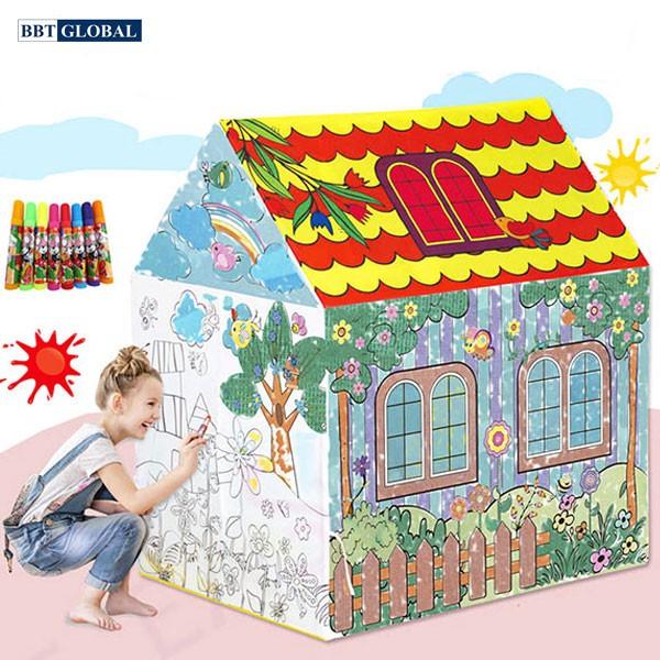 Nhà bóng cho bé tự tô mầu GRAFFITI 1280