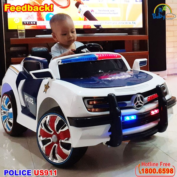 Xe ô tô cảnh sát cho bé