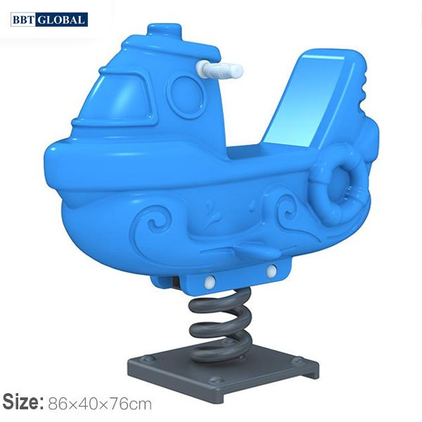 Bập bênh nhún lò xo thuyền đơn ZK139-21