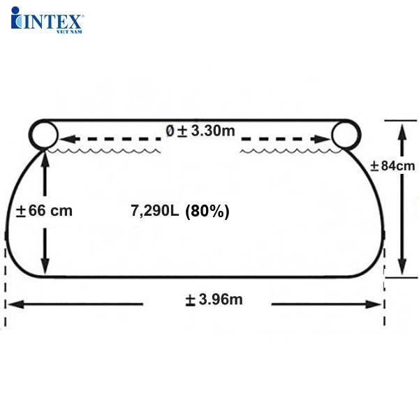 Bể bơi gia đình 3m96*84cm INTEX 28142