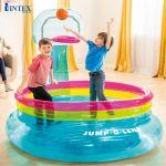 Nhà hơi, nhà banh nhún kèm ném bóng rổ INTEX 48265