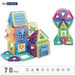 Đồ chơi xếp hình 3D nam châm 70 chi tiết BBT Global 689-29