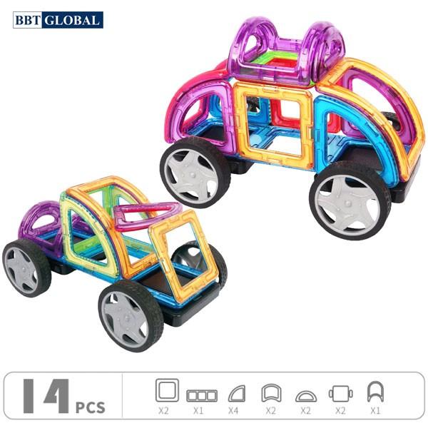 Đồ chơi xếp hình 3D nam châm ráp ô tô BBT Global 689B
