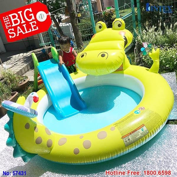 bể bơi phao cá sấu INTEX 57431