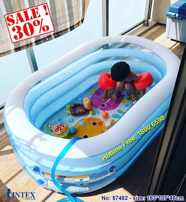 Bể bơi phao mini hình Oval INTEX 57482