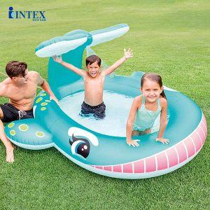 Bể bơi cho bé INTEX cá voi xanh có vòi phun mưa 57440