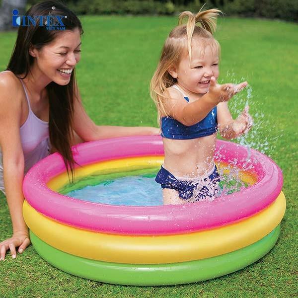 Bể bơi phao mini INTEX cầu vồng 86cm - 58924