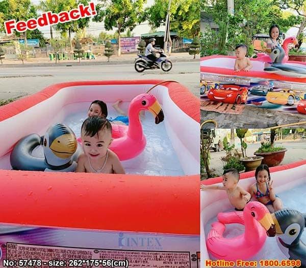 Bể bơi phao cho bé ô tô McQueen INTEX 57478