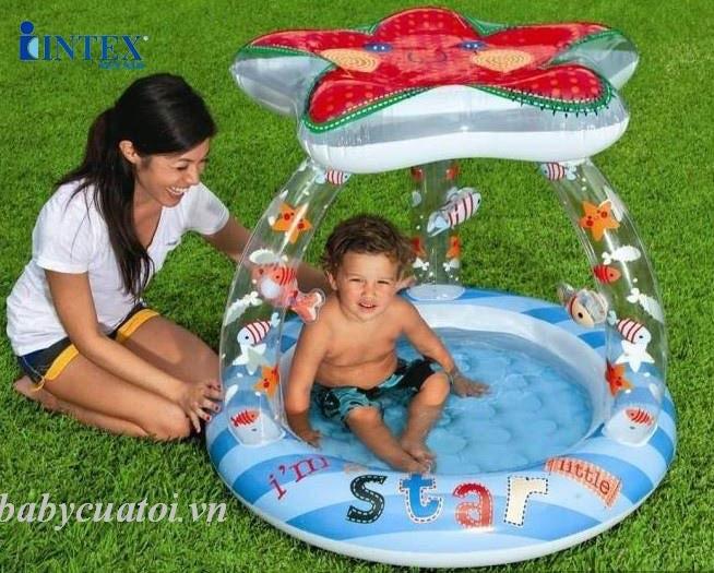 bể bơi phao cho bé có mái che intex 57428