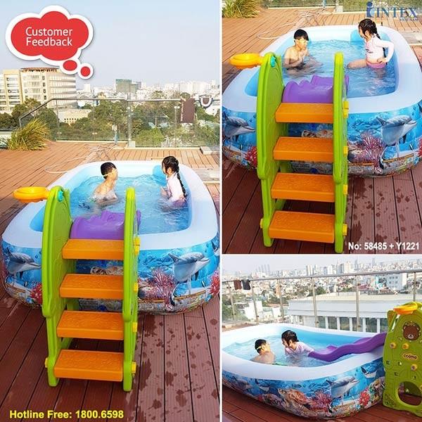 Bể bơi phao đại dương 3 tầng INTEX 58484