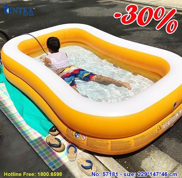 Bể bơi bơm hơi cho bé màu cam Intex 57181