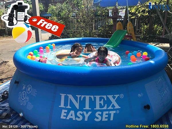 bể bơi gia đình cổ bơm hơi INTEX 28120