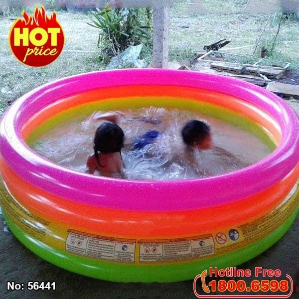 hồ bơi phao trẻ em cầu vồng