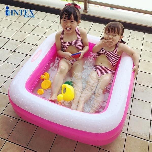 bể bơi phao cho bé hình vuông intex 57100