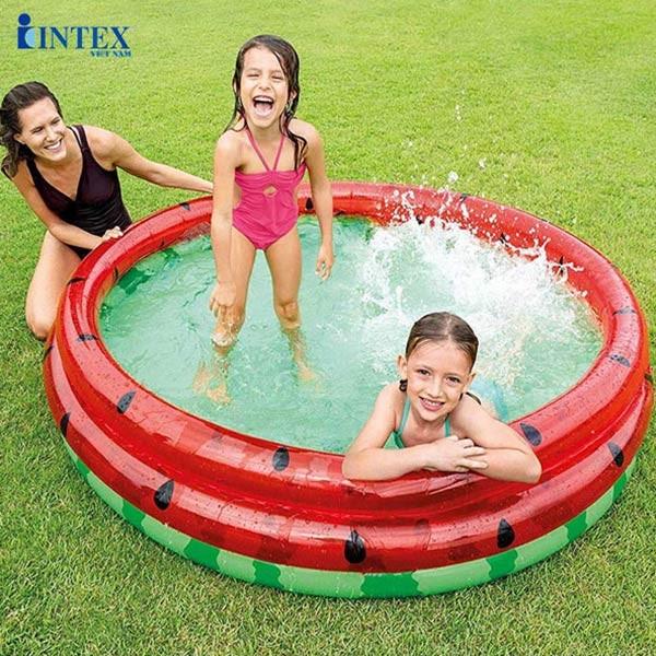 Bể bơi phao tròn cho bé 3 tầng 1m68 INTEX 58448