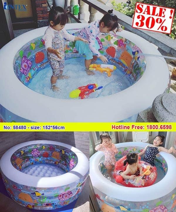 bể bơi phao mini đại dương