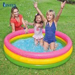 Hồ bơi phao INTEX Cầu vồng 3 tầng 1m47 - 57422