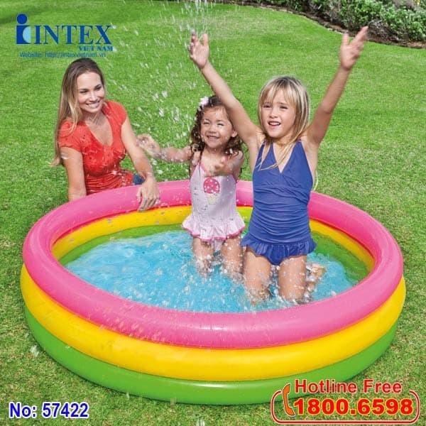 hồ bơi phao cầu vồng mini intex 57422