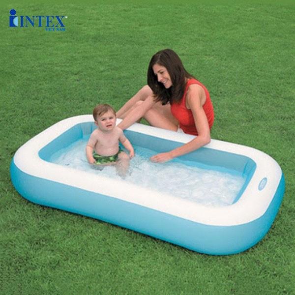Hồ bơi phao cho bé 1m66 có đáy bơm hơi INTEX 57403