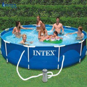 Bể bơi khung kim loại tròn 3m66 có máy lọc nước INTEX 28212