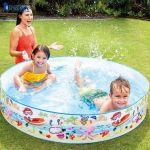Bể bơi lắp dựng cho bé hình cá 1m52 INTEX 56451
