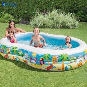 Bể bơi phao bãi biển xanh 2m62 INTEX 56490 (262*160cm)