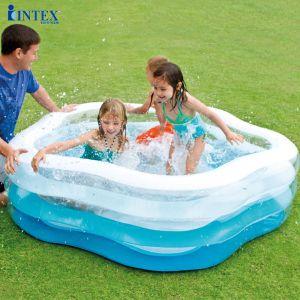 Bể bơi phao ngũ giác 1m85 đáy bơm hơi INTEX 56495
