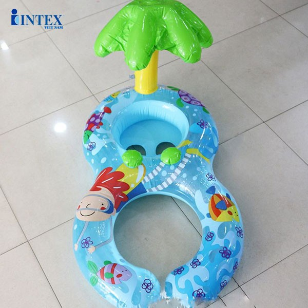 Phao bơi đôi xỏ chân mái che hình lá INTEX 56590