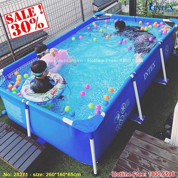bể bơi cho bé tại nhà