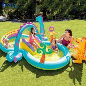 Bể bơi cầu trượt vườn khủng long INTEX 57135