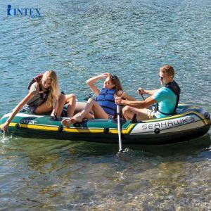 Bộ thuyền Seahawk 3 người mái chèo nhôm INTEX 68380