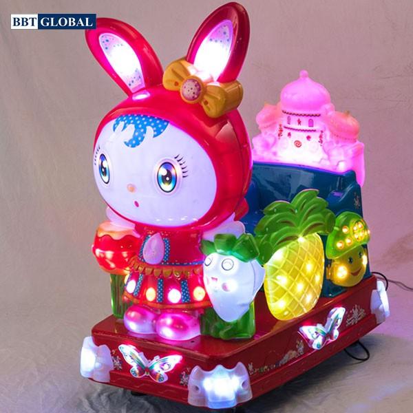 Nhún điện nhập khẩu em bé đội mũ thỏ NDNK-1001