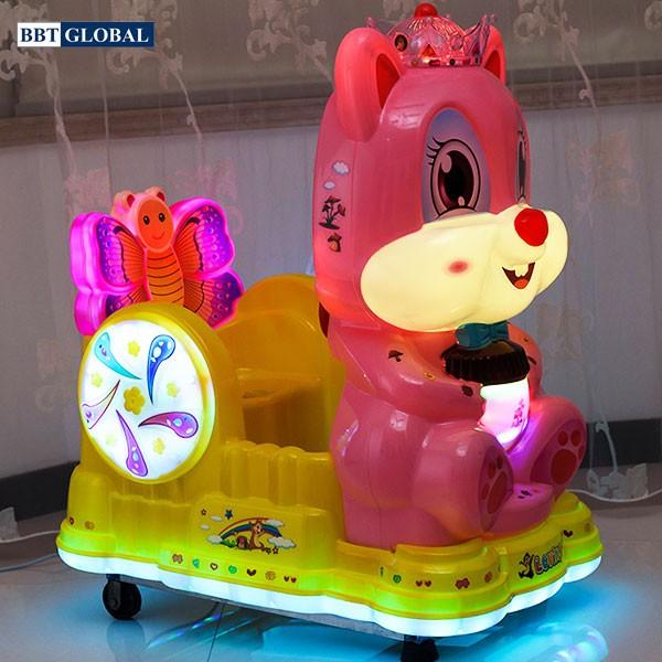 Nhún điện nhập khẩu mèo hồng xinh xắn NDNK-1090