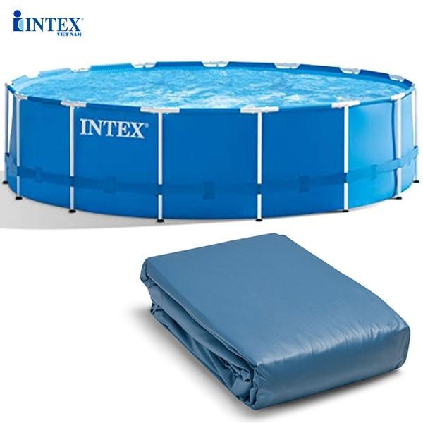Vỏ bể tròn khung KL 457*122 cm (dành cho bể 28242) mã INTEX 10098