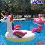 Phao bơi ngựa thần khổng lồ sắc màu INTEX 57281