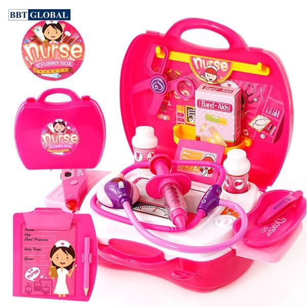 Bộ đồ chơi bác sỹ màu hồng đáng yêu 8359AB