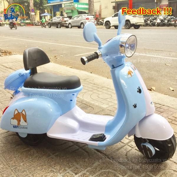 xe máy điện trẻ em chú cho puppy